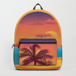 Tropical Beach Sunset Backpack