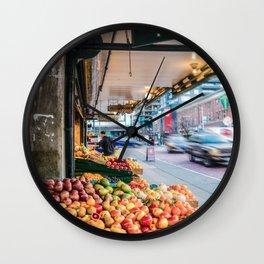 Corner Produce Wall Clock