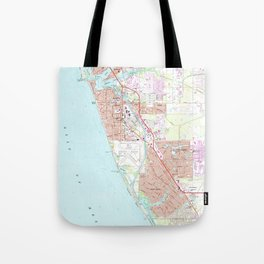 Venice Florida Map (1973) Tote Bag