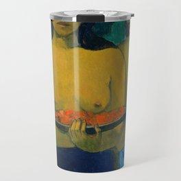 Two Tahitian Women by Paul Gauguin, 1889 Travel Mug