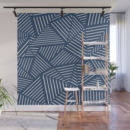 Abstraction Linear Zoom Navy Wall Mural