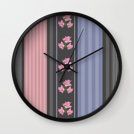 Combined, patchwork 3 Wall Clock