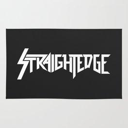 Straight Edge Metal Logo Rug