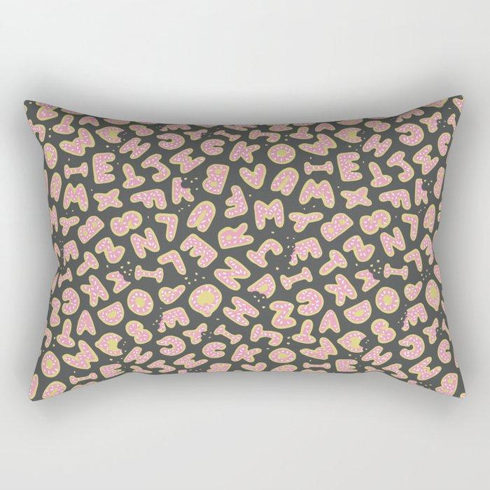 Alphabet Cookies Rectangular Pillow