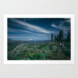 Mt Shasta view Art Print