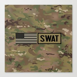 SWAT: Woodland Camouflage Canvas Print