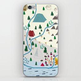 summer camp iPhone Skin