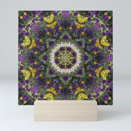 Summer Floral Jewels Kaleidoscope Mini Art Print