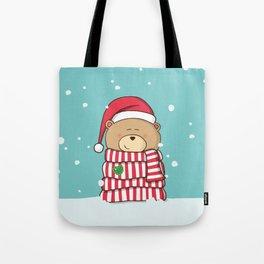 Christmas Teddy bear Tote Bag