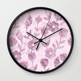 Watercolor Floral VV Wall Clock
