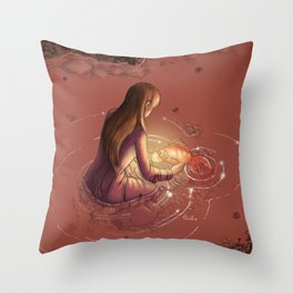 Carpa Koi Throw Pillow