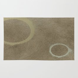 Two Circles - Modern Art - Abstract - Fine Art - California Cool - Popular Painterly Rug