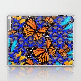 MODERN BUTTERFLY BLUE ABSTRACT WORLD Laptop & iPad Skin