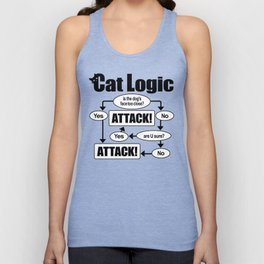 Cat Logic: Attack! Unisex Tank Top