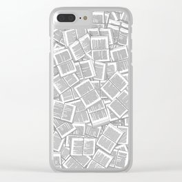 Literary Overload Clear iPhone Case