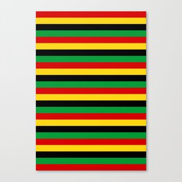 Guinea-Bissau Sao Tome and Principe flag stripes Canvas Print