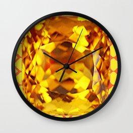 MADEIRA TOPAZ SEPTEMBER GEM BIRTHSTONE MODERN ART Wall Clock