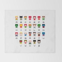 Superhero Alphabet Throw Blanket
