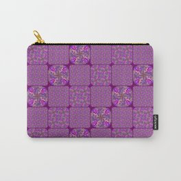 Bright Purple Rose Quilt Carry-All Pouch