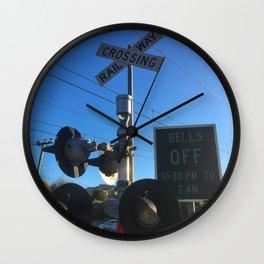 Railway Crossing Lights Wall Clock