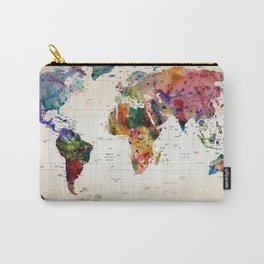 map Carry-All Pouch