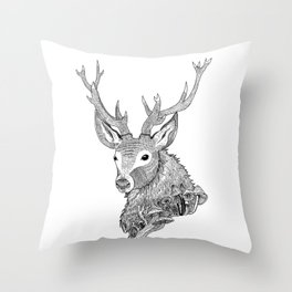 Forest Stag Throw Pillow