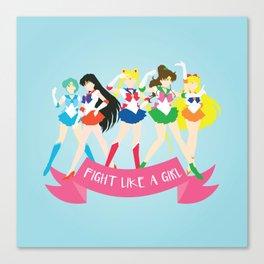 Fight Like a Girl: Sailor Senshi Canvas Print