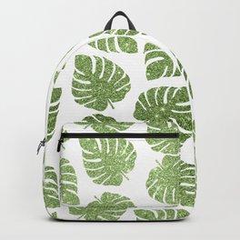 Glitter Monstera Leaves Backpack