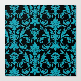 damask coral Canvas Print