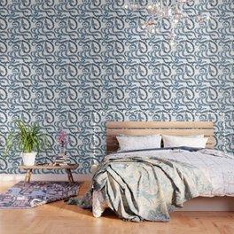 Mexican Talavera inspired pattern Wallpaper