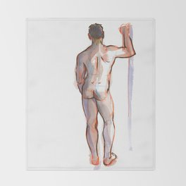 PATRICK, Nude Male by Frank-Joseph Throw Blanket
