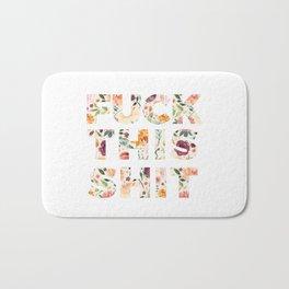 Flowery Language: Fuck This Shit Bath Mat