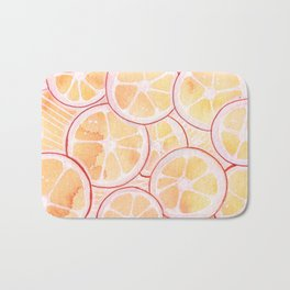Tangerine Ring Party! Bath Mat