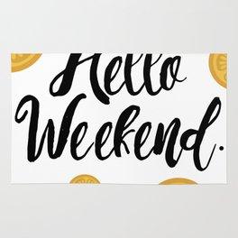 Hello Weekend. Rug