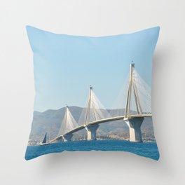 Rio Antirrio Bridge Throw Pillow