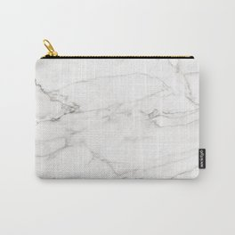White Marble 006 Carry-All Pouch