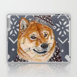 Shiba Inu in a  Hat and Scarf Laptop & iPad Skin