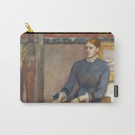 Helene Rouart in her Father's Study by Edgar Degas Carry-All Pouch