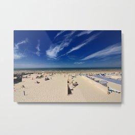 On the beach, blue sky Metal Print