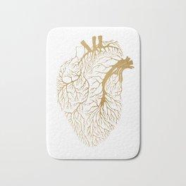 Heart Branches - Gold Bath Mat