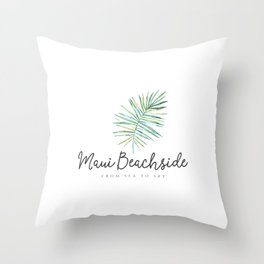 Maui Beachside Logo Throw Pillow