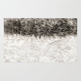 Abstract Texured Canvas Rug