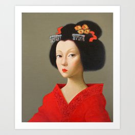 Portrait of a Geisha 3. Art Print