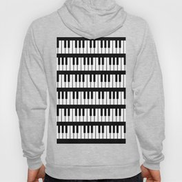 Black And White Piano Keys Pattern Hoody