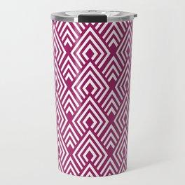 Marsala Diamond Pattern Travel Mug