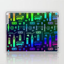 London Landmarks Digital Rainbow Hologram Laptop & iPad Skin
