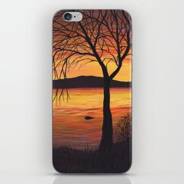 3 Visions Art Sunset Trio part 3 iPhone Skin