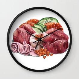 Sushi and fish eggs Wall Clock