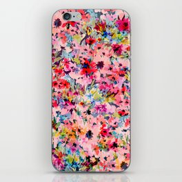 Little Peachy Poppies iPhone Skin