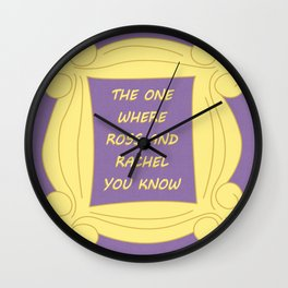 the One Where Ross and Rachel You Know - Season 2 Episode 15 - Friends - Sitcom TV Show Wall Clock